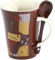 Bohra Love Ceramic Mug (300 Ml, Pack Of 2)