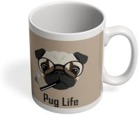 PosterGuy Pug Life Funny Dog Illustration Quirky, Funny Ceramic Mug (280 Ml)