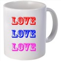 Snoogg Love, Love, Love Mug - White, Pack Of 1