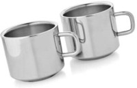Verow Double Wall Sobar Set Of 2 Stainless Steel Mug (150 Ml, Pack Of 2)