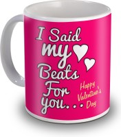 Sky Trends I Sad My Beats For You With Two Heart Happy Valentine's Day Ceramic Mug (350 Ml)