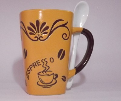 GoodLivingForever Espresso Theme Coffee  Ceramic Mug