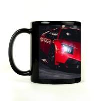 Shoprock Red Lamborghini Mug (Black, Pack Of 1)