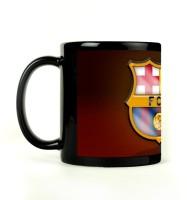 Shoprock Barcelona Football Mug (Black, Pack Of 1)