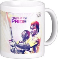 Exoctic Silver Chennai Super King IPL Series XXX 022 Ceramic Mug (300 Ml)