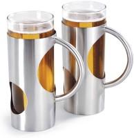 Arttdinox Beer Ceramic, Stainless Steel Mug (Pack Of 2)