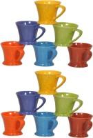 Elite Handicrafts Ceramic_Tea_Cups_128 Ceramic Mug (200 Ml, Pack Of 12)