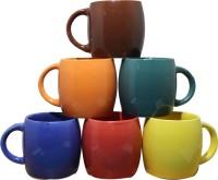 Onlinemaniya Onmcup39 Glass Mug (130 Ml, Pack Of 6)