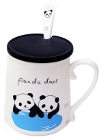 Satyam Kraft Panda Ceramic Mug (340 Ml)