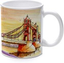 Printland Artistic Bridge Mug - Multicolor, Pack Of 1