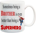 Mesleep Raksha Bandhan White Super hero Mug - White, Pack of 1