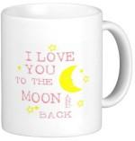 Fantaboy Plates & Tableware Fantaboy I Love You to The Moon Ceramic Mug