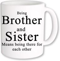 PhotogiftsIndia Gift For Brother And Sister Ceramic Mug (325 Ml)