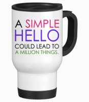 Tiedribbons A Simple Hello Gifts For Friend Travel Stainless Steel Mug (350 Ml)
