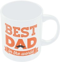 PosterGuy Best Dad In The World Quote | Father's Day Gift Ceramic Mug (280 Ml)