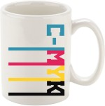 Oh Fish Cups & Mugs Oh Fish CMYK GRAPHIC PRINTED COFFEE Ceramic Mug