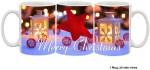 Furnish Fantasy Plates & Tableware Furnish Fantasy Merry Christmas Star Ceramic Mug