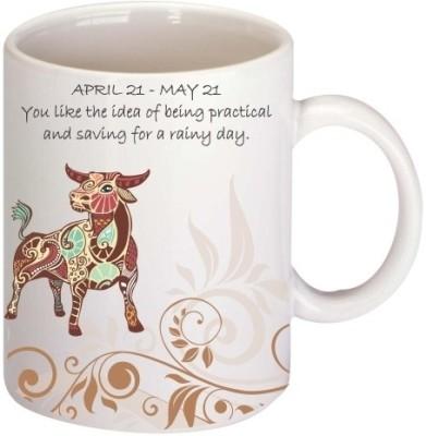 Printland Taurus Coffee Mug White, Pack of 1