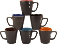 Khurja Crockriz Big Ceramic Mug (100 Ml, Pack Of 6)