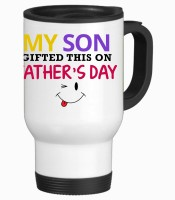 Tiedribbons Gift For Father's Day_Daughter's Dad_Pristine Stainless Steel Mug (475 Ml)