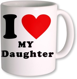 PhotogiftsIndia I Love Daughter Ceramic Mug