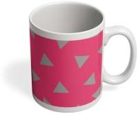 PosterGuy Triangle Pattern Triangle,Pattern,Geometry,Design,Pink,Gray,Girls,Minimal,Simple Ceramic Mug (325 Ml)