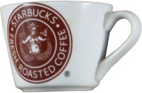 Gifts And Style Star Buck Coffe Cup Ceramic Mug (150 Ml, Pack Of 4)
