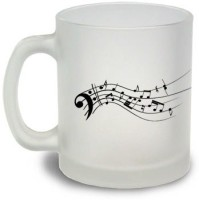 StyBuzz Lose Yourself In The Music Frosted Mug Glass Mug (300 Ml)