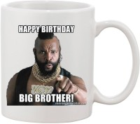 Elli Gifts Happy Birthday My Big Brother BB13 Ceramic Mug (325 Ml)