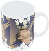 PosterGuy Pixelated Ronaldo Graphic Illustration Typography Ceramic Mug (280 Ml)
