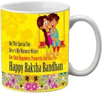 Mesleep Rakhi Quotes 101 Ceramic Mug (325 Ml)