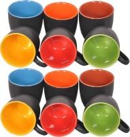Elite Handicrafts Ceramic_Tea_Cups_136 Ceramic Mug (200 Ml, Pack Of 12)