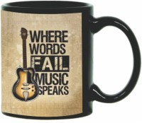 Printland Music Speaks PMBA0155 Ceramic Mug (350 Ml)