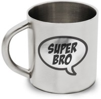 Hot Muggs Classic Super Bro Stainless Steel Mug (200 Ml)