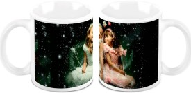 HomeSoGood Two Lovely Angels (2 s) Ceramic Mug
