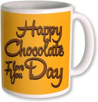 Photogiftsindia Happy Chocolate Day I Love You Coffee Mug (White, Pack Of 1)