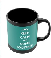 PosterGuy Keep Calm And Come Together | John Lennon Typography Ceramic Mug (280 Ml)