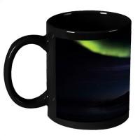 AMY Beautiful Colorful Light Rays In The Night Ceramic Mug (325 Ml)