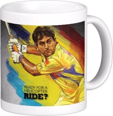 Exoctic Silver Chennai Super King IPL Series XXX 033 Ceramic Mug (300 Ml)