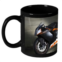 AMY White Hot Motorcycle Ceramic Mug (325 Ml)