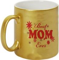 Mugwala Best Golden MOM Ever Ceramic Mug (330 Ml)
