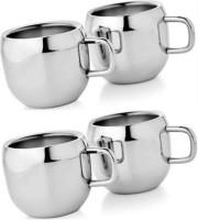 Antia Steel Apple Tea - 103-SP Stainless Steel Mug (150 Ml, Pack Of 4)