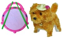 Shop & Shoppee Combo Of Flash Drum & Musical Puppy Dog (Multicolor)