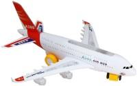 Zaprap White Musical Aeroplane Toy For Kids (Multicolor)
