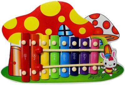 Tootpado Cute Mushroom Smurfs Home Design Wooden Xylophone For Kids Musical Toy