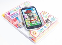 GoMerryKids Talking Tom Musical 3D Multi Funtional Mobile Phone With Projector Learning Toy For Kids: Black/White (Multicolor)