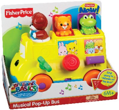 Buy Fisher-Price Musical Pop - Up Bus: Musical Toy