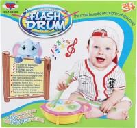 Toysjungle Musical Flash Drum For Kids (Pink, Green)