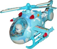 Imported World High-Class Battery Operated Toy Helicopter With Flashing Light & Music (Blue)