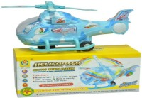 S.G.INTERNATIONAL Turban Toys Helicopter With Led Lights On Wings And Music (Blue, White)
